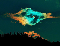 Piece of Colorful Clouds Chasing the Moon