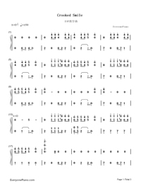 Crooked Smile-J. Cole-Numbered-Musical-Notation-Preview-1