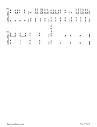 Crooked Smile-J. Cole-Numbered-Musical-Notation-Preview-3