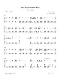 Hazy Moon-Hatsune Miku-Numbered-Musical-Notation-Preview-1