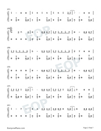 Despacito-Super Easy-Piano Version Numbered Musical Notation Preview 2