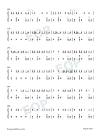 Despacito-Super Easy-Piano Version Numbered Musical Notation Preview 4