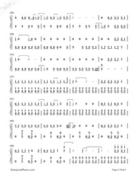 Red-Taylor Swift-Numbered-Musical-Notation-Preview-2