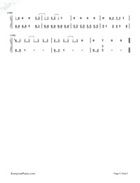 Red-Taylor Swift-Numbered-Musical-Notation-Preview-5