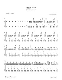Two-Faced Lovers-Hatsune Miku-Numbered-Musical-Notation-Preview-1