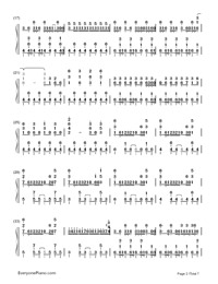 Two-Faced Lovers-Hatsune Miku-Numbered-Musical-Notation-Preview-2