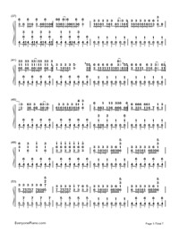 Two-Faced Lovers-Hatsune Miku-Numbered-Musical-Notation-Preview-3