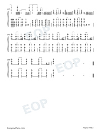 Burn-Ellie Goulding-Numbered-Musical-Notation-Preview-2