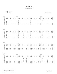 Ai Kotoba Ⅱ-Love Words Ⅱ-Numbered-Musical-Notation-Preview-1