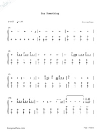 Say Something-Numbered-Musical-Notation-Preview-1