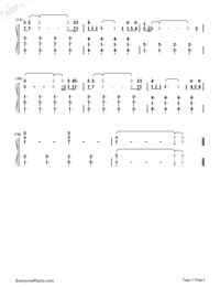 Say Something Numbered Musical Notation Preview 2
