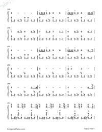 Discombobulate-Sherlock Holmes Theme-Numbered-Musical-Notation-Preview-2