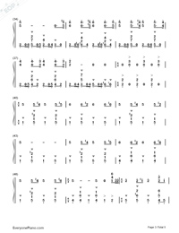 Discombobulate-Sherlock Holmes Theme-Numbered-Musical-Notation-Preview-3