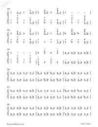 Discombobulate-Sherlock Holmes Theme-Numbered-Musical-Notation-Preview-4