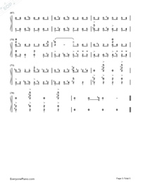 Discombobulate-Sherlock Holmes Theme-Numbered-Musical-Notation-Preview-5