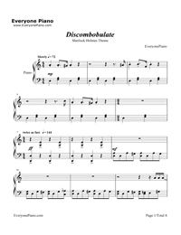 Discombobulate-Sherlock Holmes Theme Stave Preview 1