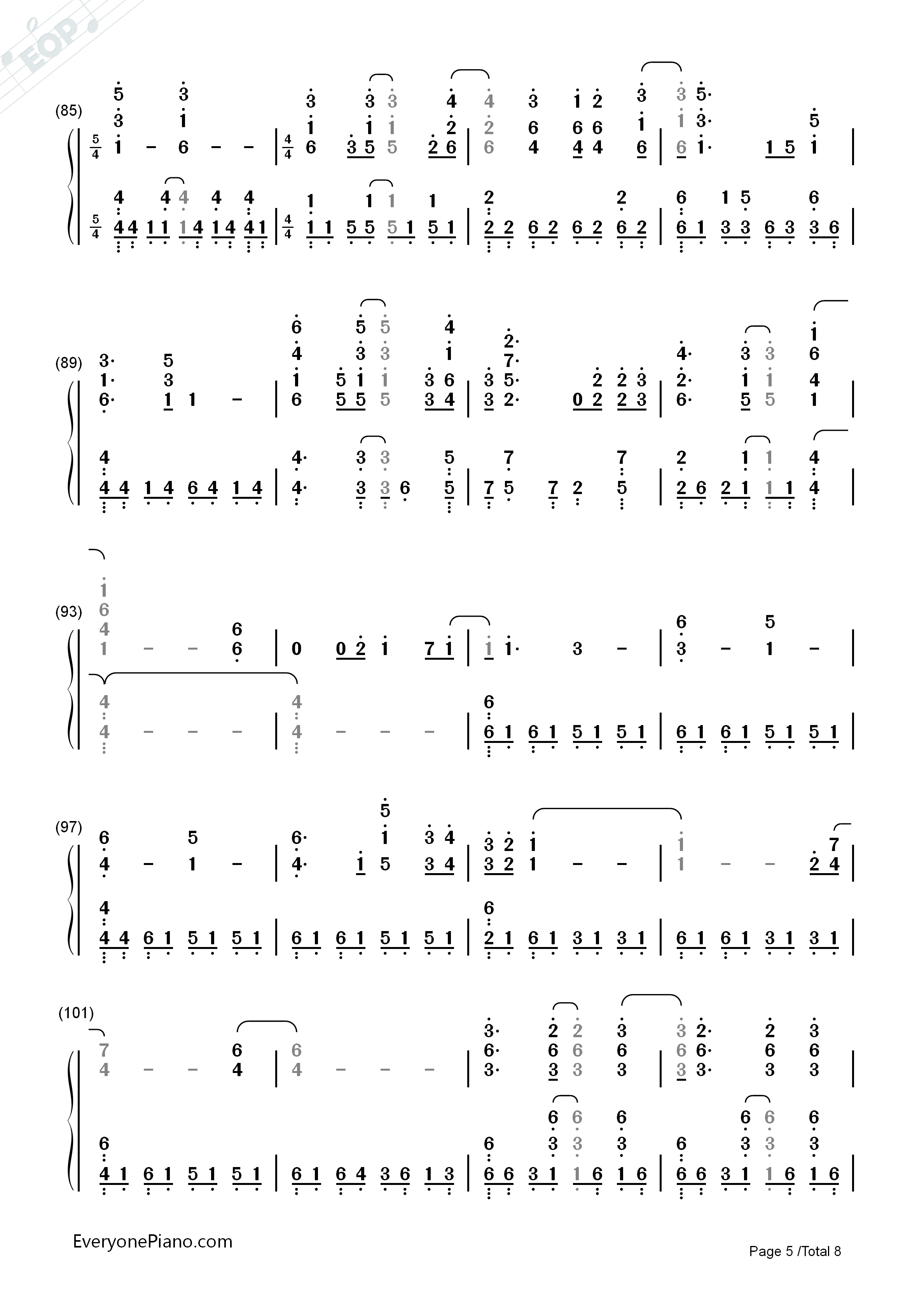 Turning tables adele numbered musical notation preview 5 free listen now print sheet turning tables adele numbered musical notation preview 5 hexwebz Images
