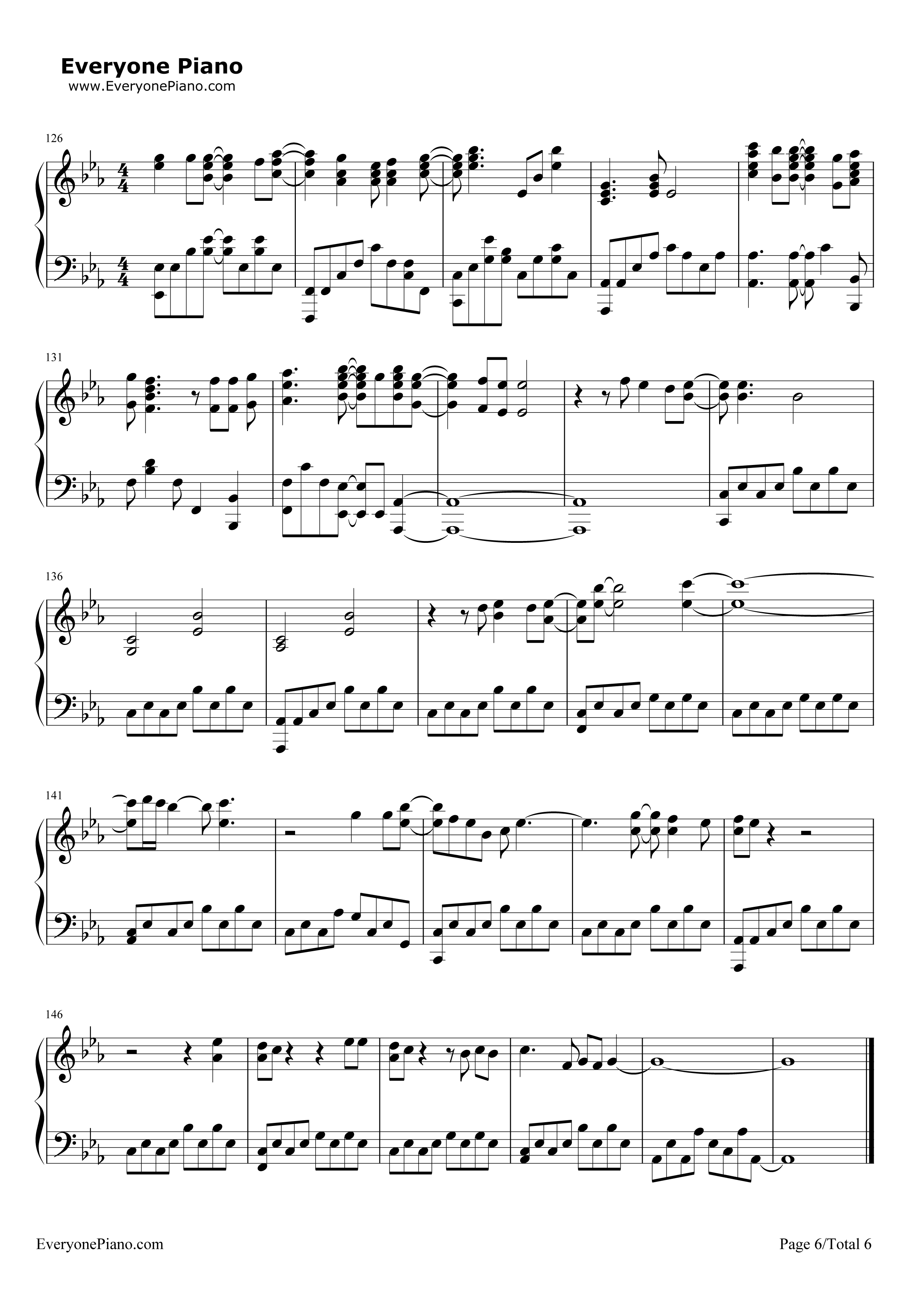 Turning tables adele stave preview 6 free piano sheet - Turning tables adele traduction ...