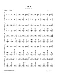 Delusion Tax-Hatsune Miku-Numbered-Musical-Notation-Preview-1