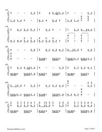 Yume to Hazakura - Hatsune Miku-Numbered-Musical-Notation-Preview-2