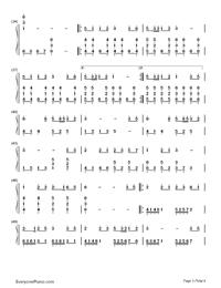 Yume to Hazakura - Hatsune Miku-Numbered-Musical-Notation-Preview-3