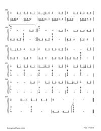 Yume to Hazakura - Hatsune Miku-Numbered-Musical-Notation-Preview-4