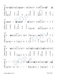 Hau Tuu Sekai Seifuku-World Domination How-to-Numbered-Musical-Notation-Preview-2