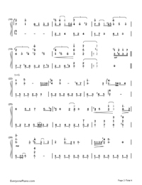 Journey(Dream Of Flight)-The Wind Rises OST-Numbered-Musical-Notation-Preview-2