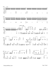 Journey(Dream Of Flight)-The Wind Rises OST-Numbered-Musical-Notation-Preview-3