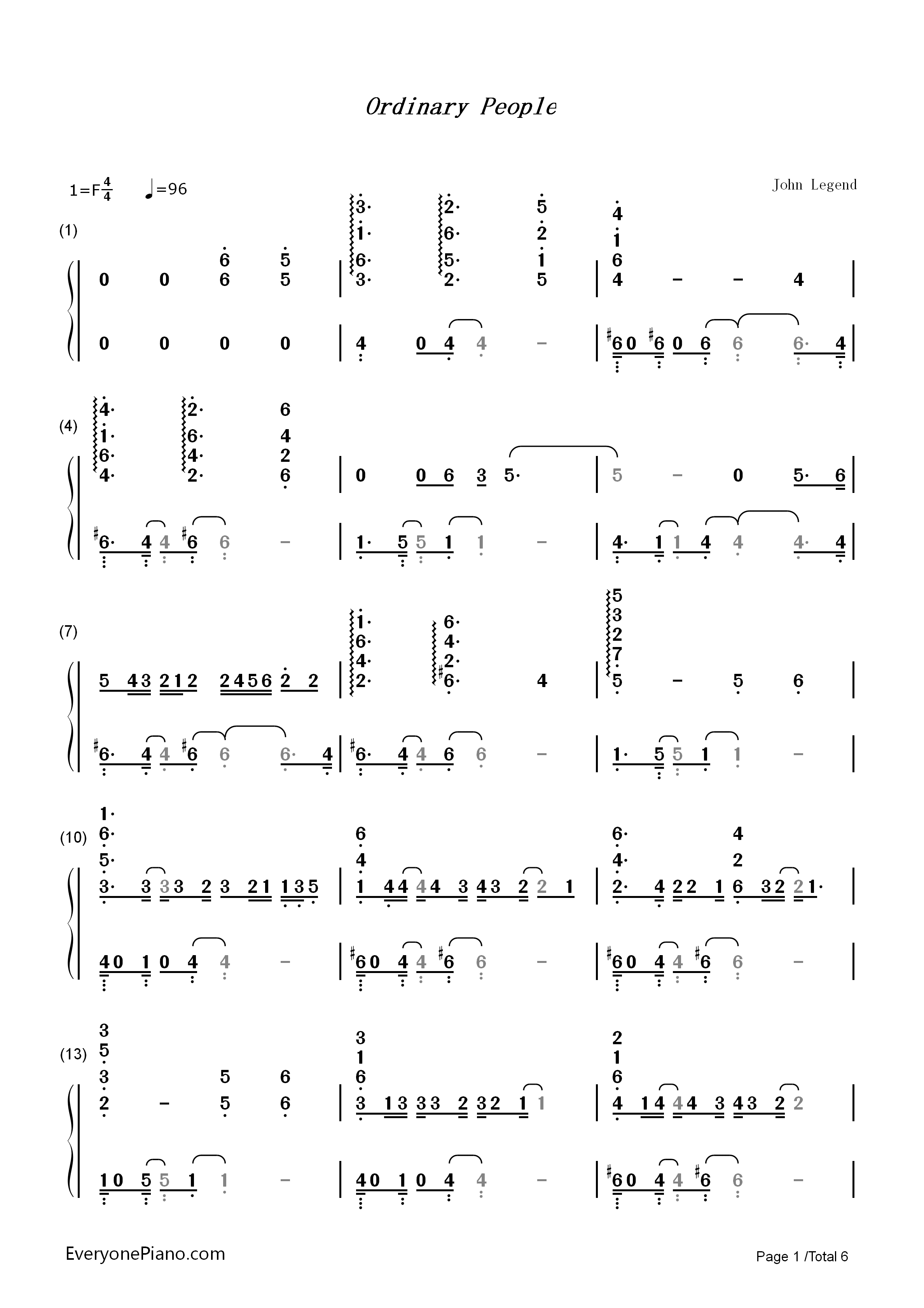 Ordinary people john legend numbered musical notation preview 1 listen now print sheet ordinary people john legend numbered musical notation preview 1 hexwebz Choice Image