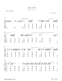 Let It Go-Demi Lovato-Numbered-Musical-Notation-Preview-1