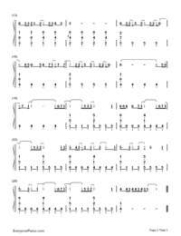 Let It Go-Demi Lovato Numbered Musical Notation Preview 2