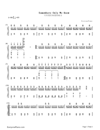 Somewhere Only We Know-Numbered-Musical-Notation-Preview-1