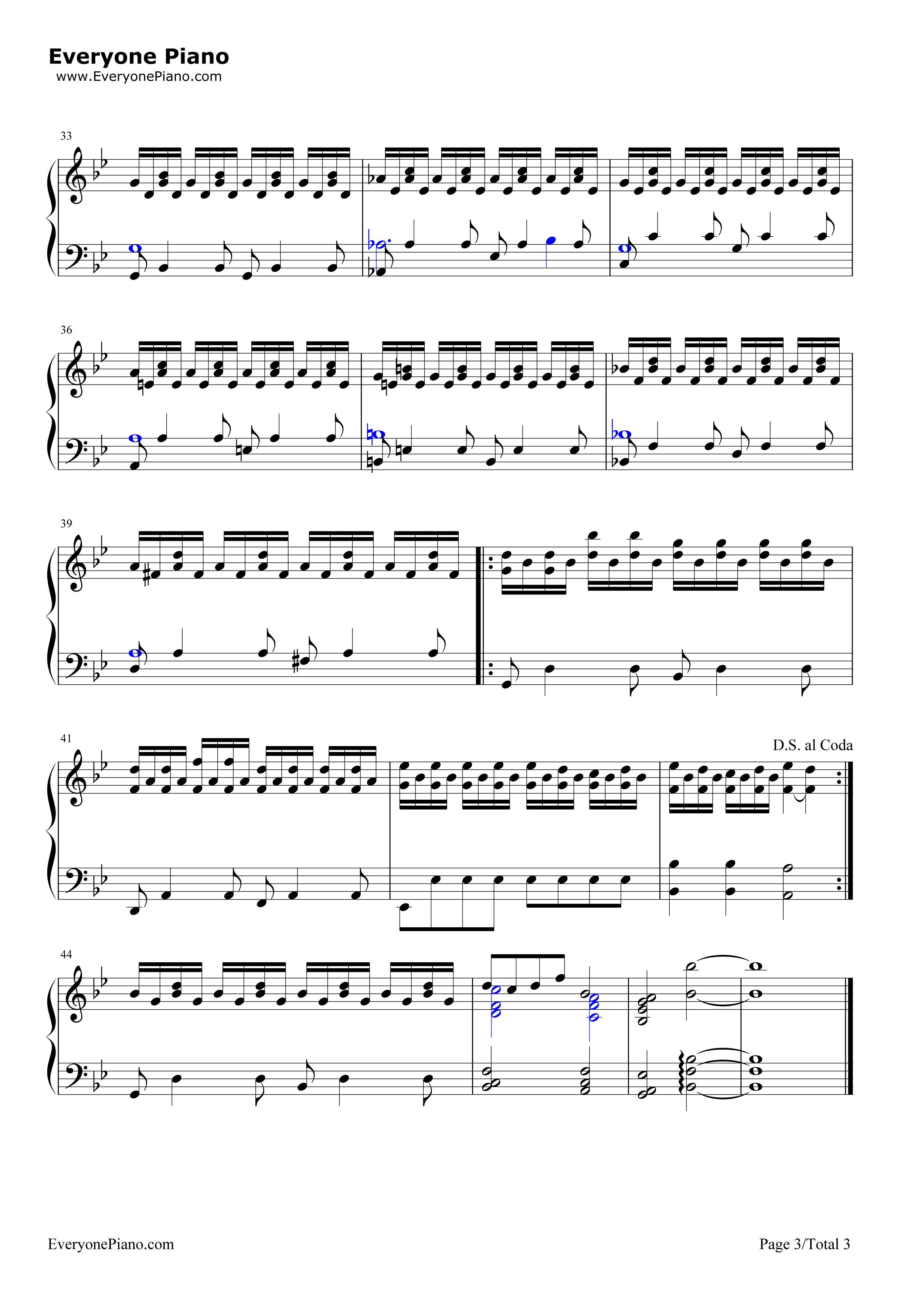 Somewhere Only We Know Stave Preview 3-Free Piano Sheet ... Lily Allen Chords