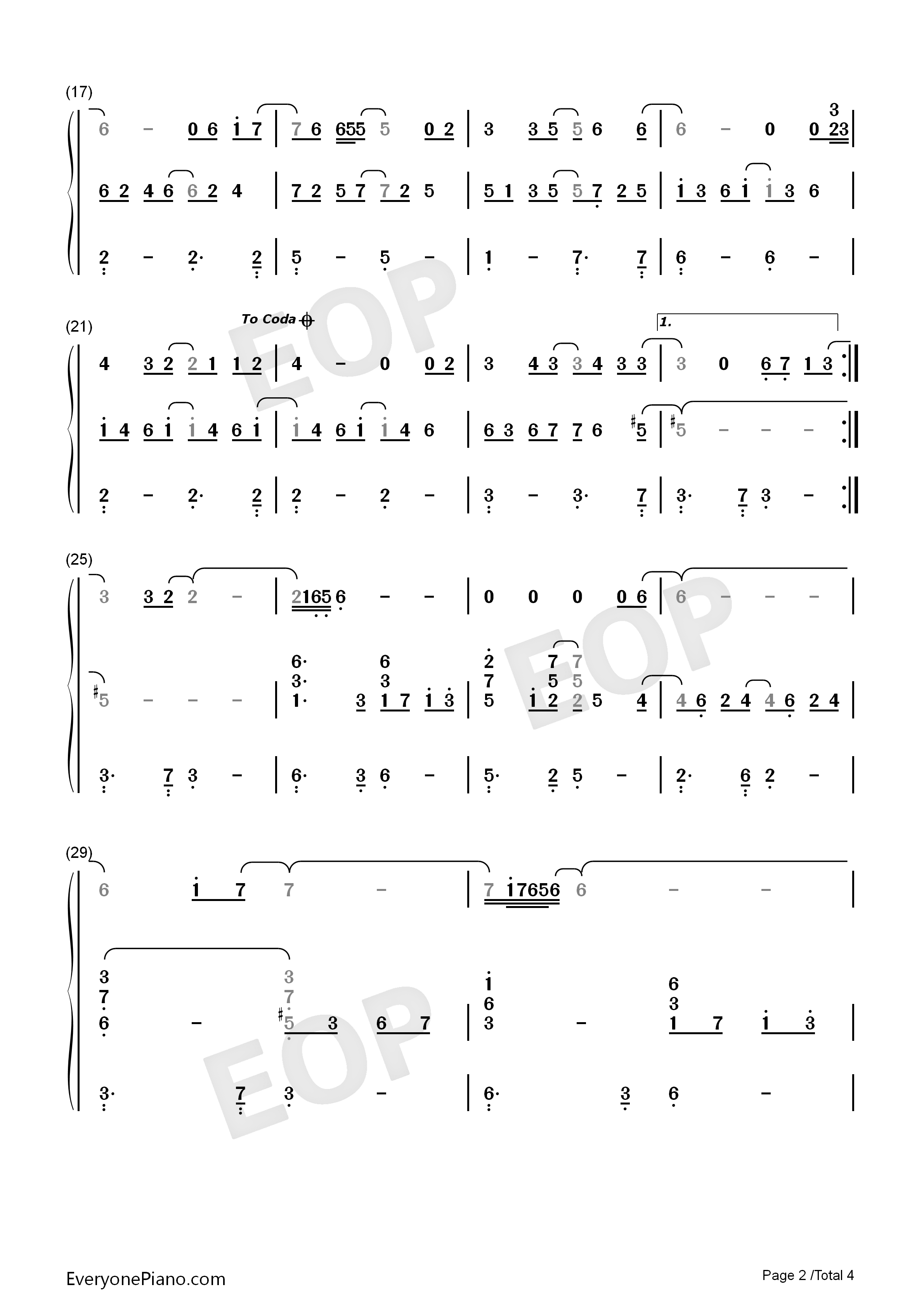 Mary Did You Know-Kathy Mattea Numbered Musical Notation Preview 2