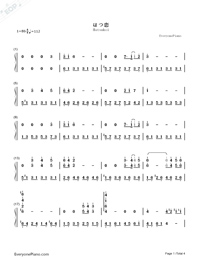 Hatsukoi-First Love Theme-Numbered-Musical-Notation-Preview-1
