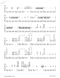 Hatsukoi-First Love Theme-Numbered-Musical-Notation-Preview-3