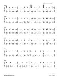 We Had Today-One Day Theme Numbered Musical Notation Preview 3