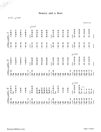 Beauty and a Beat - Justin Bieber ft. Nicki Minaj-Numbered-Musical-Notation-Preview-1