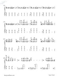 I Need Your Love-Calvin Harris ft. Ellie Goulding Numbered Musical Notation Preview 2