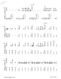 I Need Your Love-Calvin Harris ft. Ellie Goulding Numbered Musical Notation Preview 3