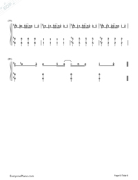 I Need Your Love-Calvin Harris ft. Ellie Goulding Numbered Musical Notation Preview 6