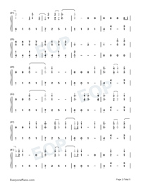 Autumn Leaves-Ed Sheeran-Numbered-Musical-Notation-Preview-2