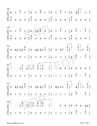 Autumn Leaves-Ed Sheeran-Numbered-Musical-Notation-Preview-3
