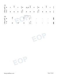 Autumn Leaves-Ed Sheeran-Numbered-Musical-Notation-Preview-5