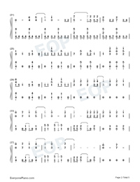 Heart Attack-Demi Lovato-Numbered-Musical-Notation-Preview-2