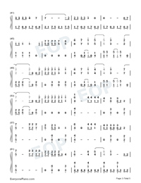 Heart Attack-Demi Lovato-Numbered-Musical-Notation-Preview-3