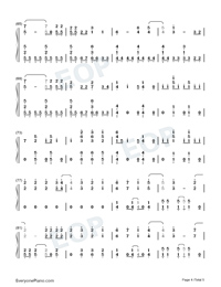 Heart Attack-Demi Lovato-Numbered-Musical-Notation-Preview-4