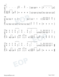 Heart Attack-Demi Lovato-Numbered-Musical-Notation-Preview-5