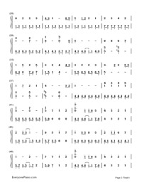 Melt-Hatsune Miku: Project Diva-Numbered-Musical-Notation-Preview-2
